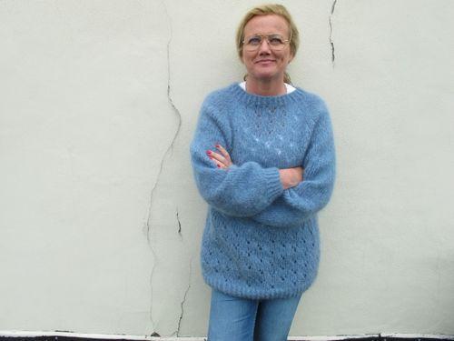 48) Vintage mohair strikket genser   FINN.no   Tovet genser