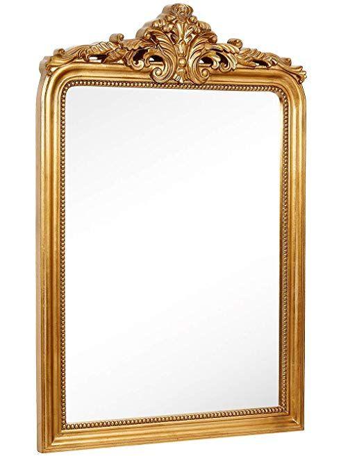 Hamilton Hills Top Gold Baroque Wall Mirror Rich Old World Feel Framed Beveled Elegant Glass Mirror Entryway Ba Gold Framed Mirror Mirror Wall Glass Mirror