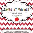 Cara Carroll:  Saved By The Bell {First Week Survival Stash of Goodies}