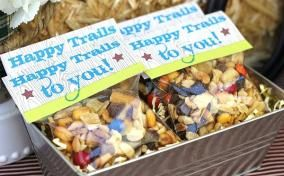 Favor bags. Same phrase, different design with s'mores trail mix