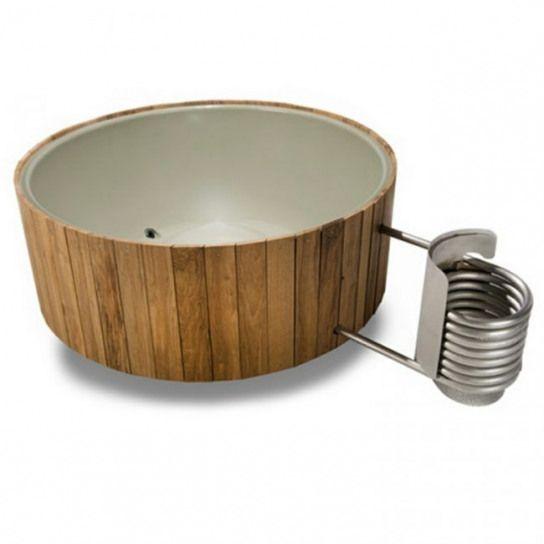 Badetonne Aus Holz Wasser Warm Ofen Heizung Originell Design Idee