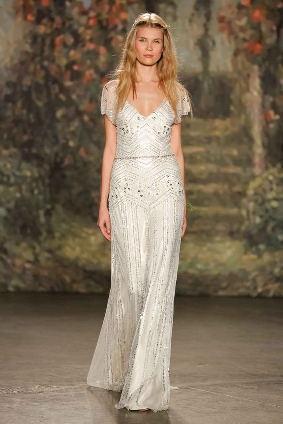 A look from the Jenny Packham spring 2016 bridal collection. Photo: Thomas Concordia/Getty Images: