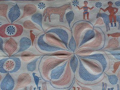 カンタ/Kantha  India  出典:テキスタイルテキスト : 部族の絨毯と布 caffetribe