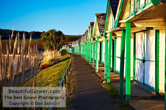 """Langland Bay Beach Huts by Dan Santillo. """"After photographing sunrise I decided to investigate the beach huts. It was a lovely, sunny morning with a deep blue sky. One advantage of being there for sunrise is you often get the place to yourself."""""""
