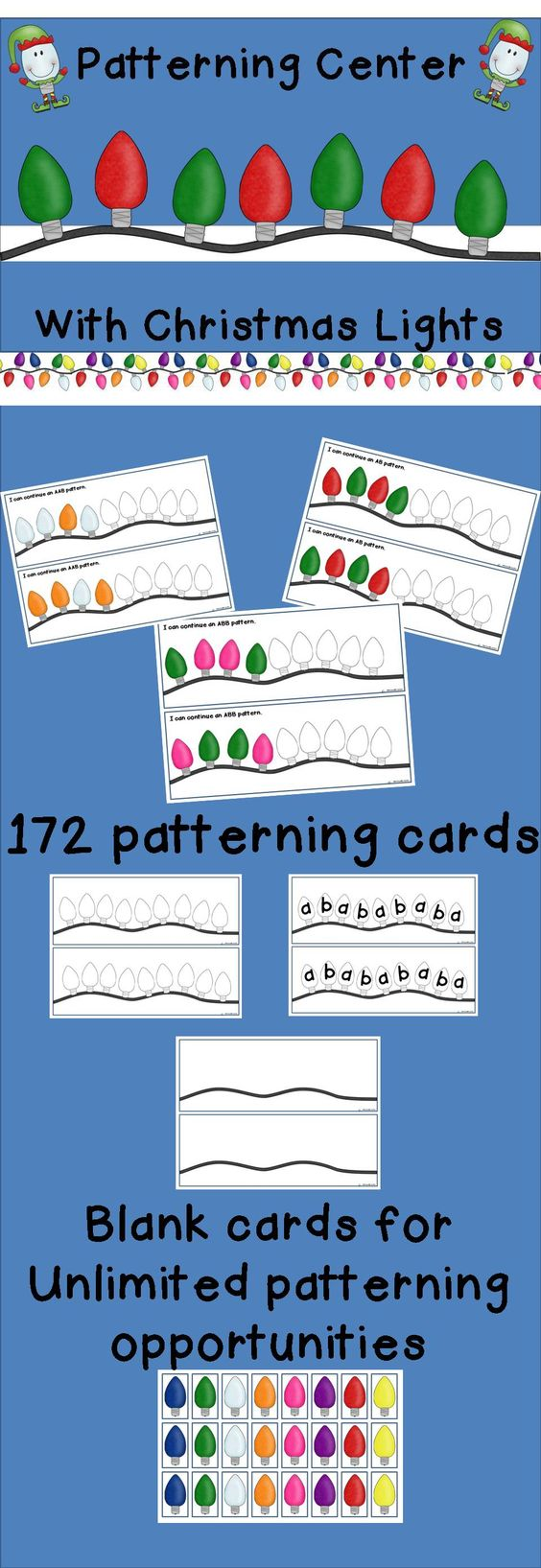math worksheet : patterning with christmas lights  christmas lights fun and student : Christmas Math Games Worksheets