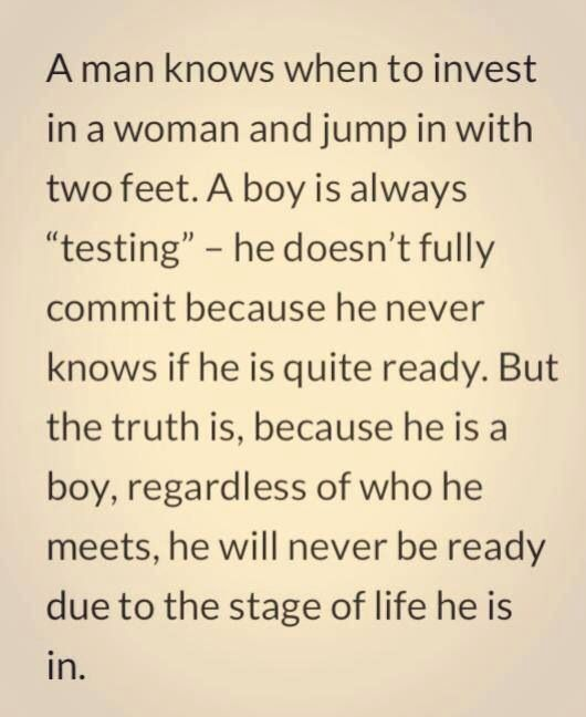 quotes about dating a man not a boy