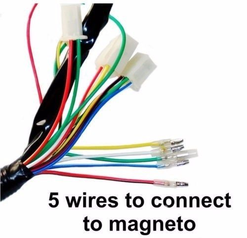 Wire Harness Wiring Cdi Assembly For 50 70 90 110cc 125cc Atv Quad Coolster Go Kart Wish Atv Quads Go Kart Atv