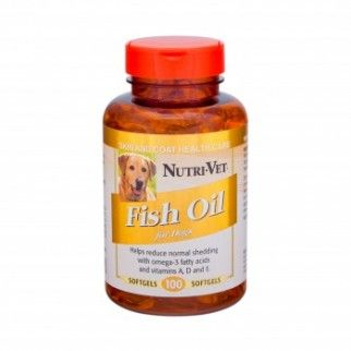 Nutri vet fish oil contains omega 3 essential fatty acids for Does fish oil help skin