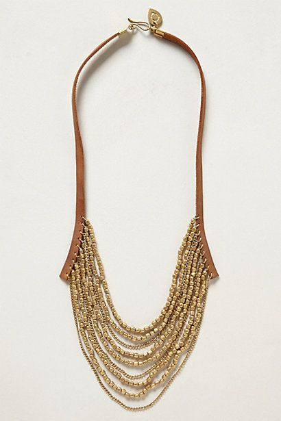 Panhandle Leather Necklace #anthropologie