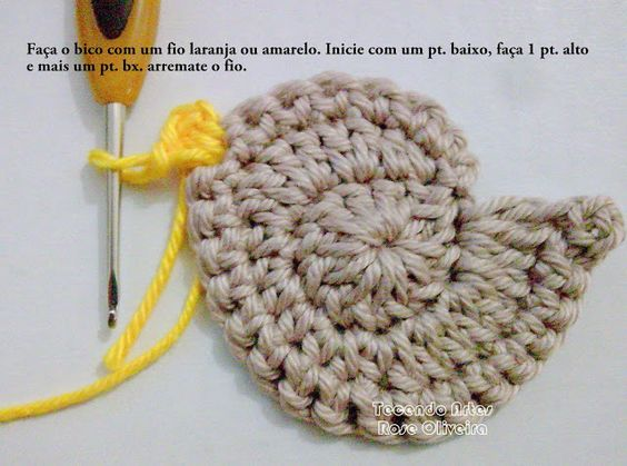 Tecendo Artes em Crochet: Pap do bird Love
