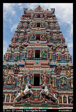 astoundingly ornate temple in Kuala Lumpur, Malaysia
