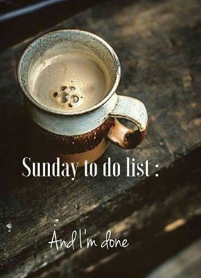 Sunday coffee: