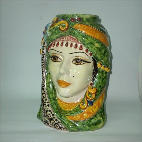Teste vaso antropomorfe   ceramiche artistiche di caltagirone   la ...