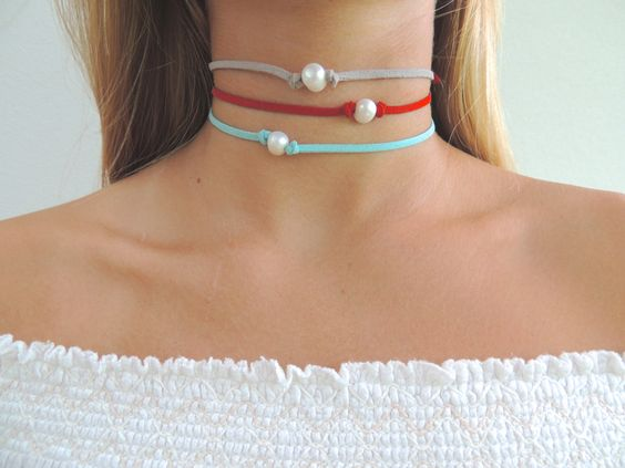 Pearl Choker by SeaStarBoutique1 on Etsy