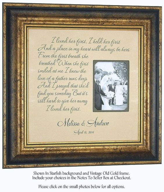 Personalized Wedding Picture Frames For Parents : ... parents gifts wedding sign wedding wedding frame lyrics wedding frame