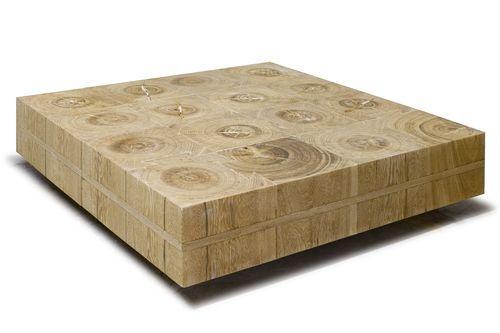 Table basse contemporaine en bois de r cup ration manteiga for Table basse recuperation