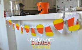 Candy corn bunting how to