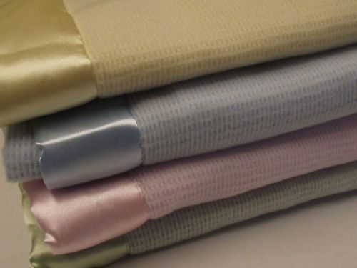 Baby Blankets With Satin Trim Baby Morgan Bright Future