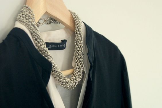 #DIY Twisted Ball Chain Necklace