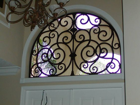 Faux Wrought Iron Arched Window Insert By Tvonschimo Via