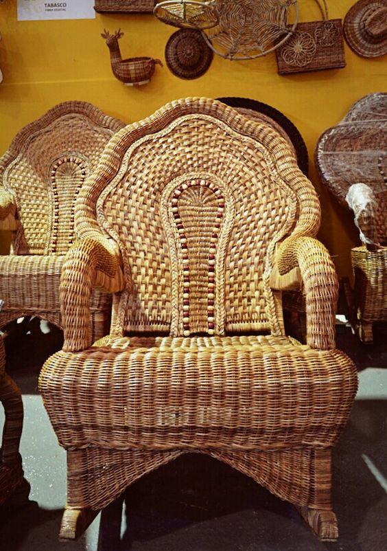 Dise o y elaboraci n de muebles en mimbre tapijulapa - Muebles de mimbre pintados ...