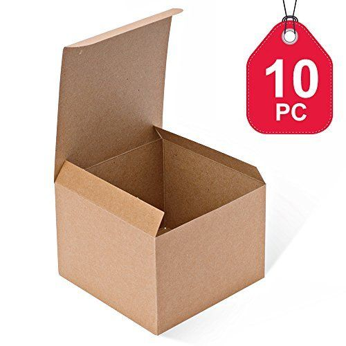 Mesha Kraft Boxes 10 Pack 5 X 5 X 3 5 Inches Brown Paper Gift Boxes With Lids For Gifts Crafting Cupcake Boxes Paper Gifts Gift Boxes With Lids Paper Gift Box