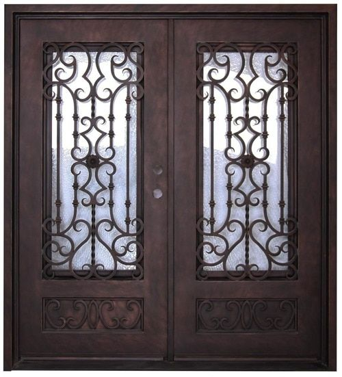 6 0 X6 8 Audrey Exterior Wrought Iron Door Wrought Iron Doors Iron Doors Wrought Iron Accents