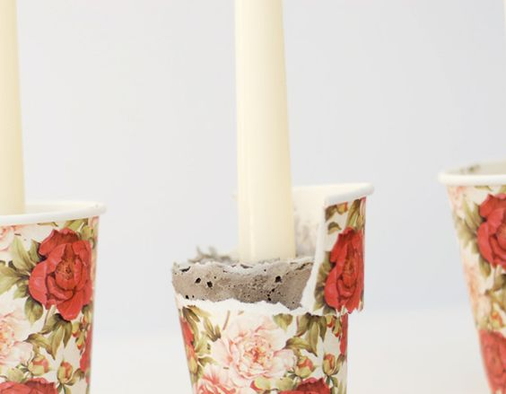 concrete candles for summer!