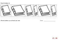 Dit werkblad oefent het seriëren van breed naar smal. Laat de kinderen de boeken uitknippen en op volgorde leggen van breed naar smal. Daarna op de onderste helft van het werkblad op laten plakken. Bijvoorbeeld te gebruiken bij het thema more »