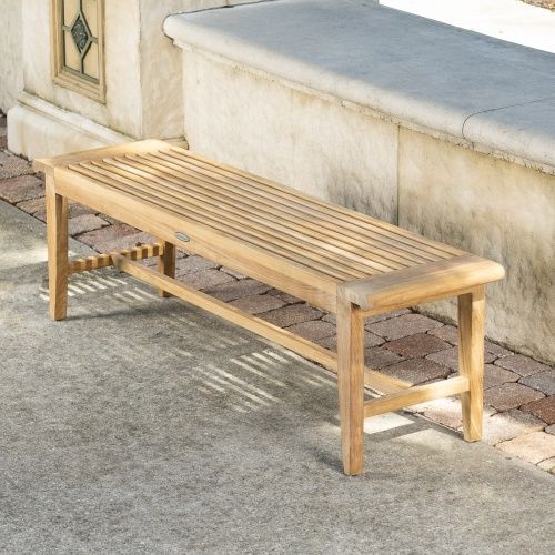 5 Ft Laguna Teak Backless Bench Yard Furniture Westminster Teak Teak