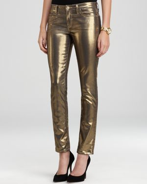 kate spade new york Broome Street Metallic Jeans