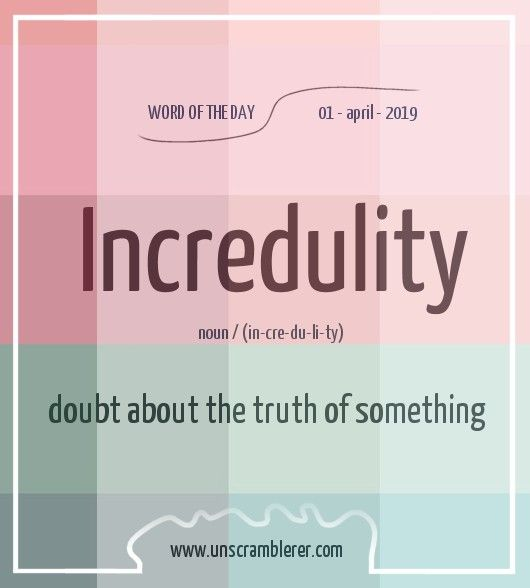 Incredulity Interesting English Words Learn English Words Good Vocabulary Words