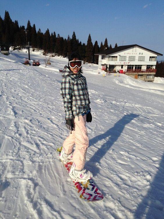 Month 2 - Burton Method snowboard jacket, O'Neill pants, Dakine gloves, Flow boots, Siren snowboard, Smith goggles