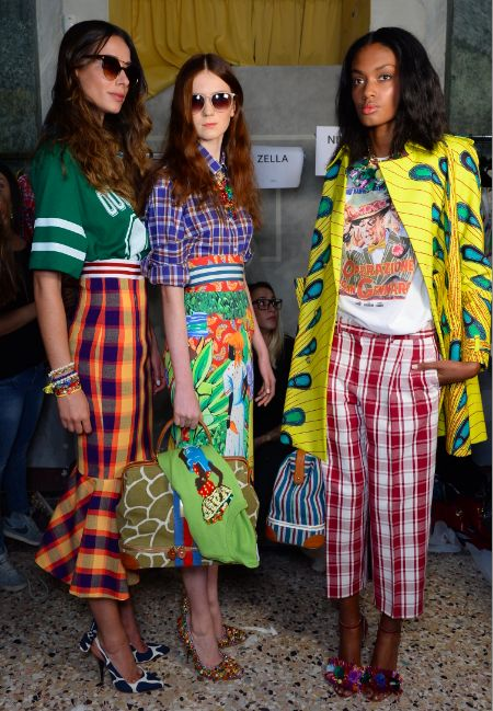 Stella Jean Backstage//Milan FW Spring 14 - I thought something about this is referencing the Caribbean and then I found out the designer is a Haitian Italian