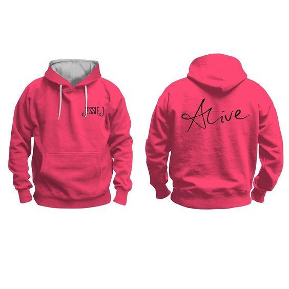 Jessie J - Jessie J Alive Pink and Grey Hoodie - Small