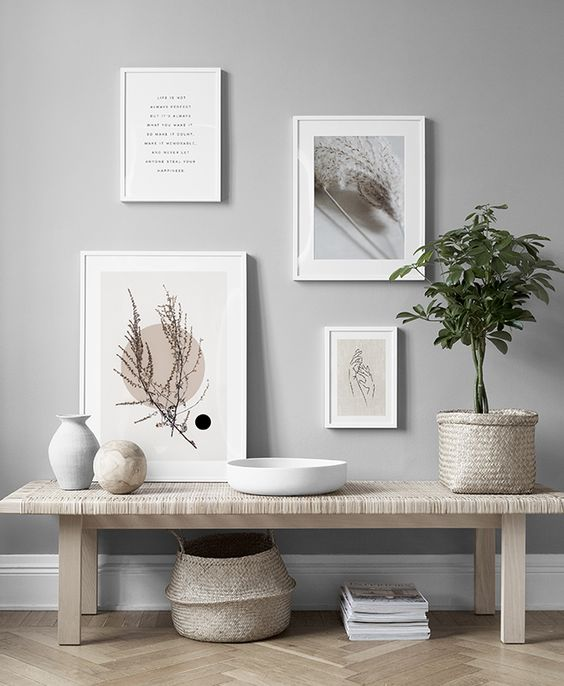 Gallery Wall Inspiration Minimalist Wall Art