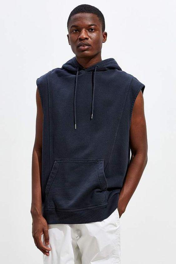 Urban Outfitters Turner Sleeveless Pullover Hoodie Sweatshirt
