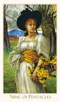 Nine of Pentacles - Victorian Romantic Tarot