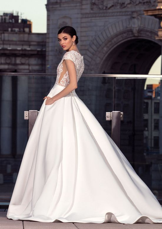 Feel Like A Couture Princess Walking Down The Aisle In This Beautiful Ball Gown With Delicate Cap Wedding Dresses London Bridal Dresses Wedding Dress Shopping