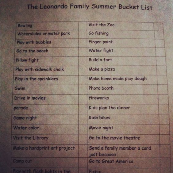 Summer bucket list to keep kids active & their minds stimulated ☀