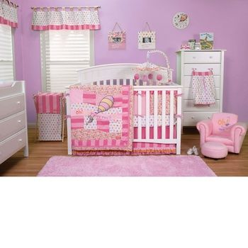Oh the Places You'll Go Pink Crib Bedding Set (TL-30365)