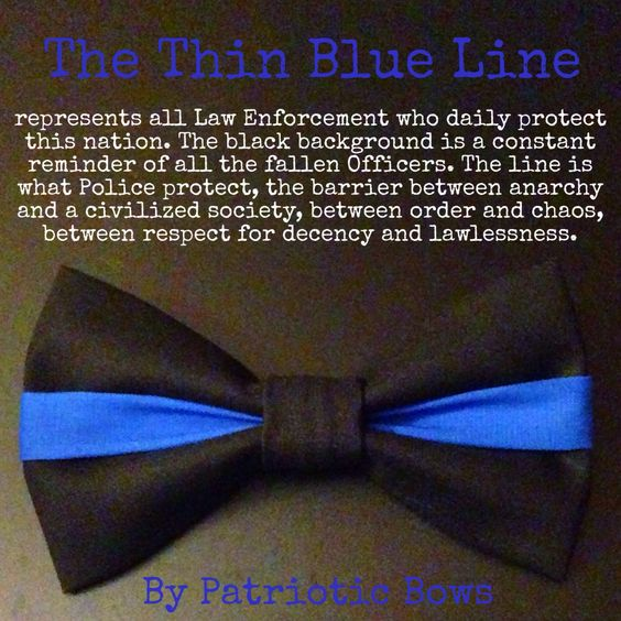 The Thin Blue Line Bow by PatrioticBows on www.patrioticbows.com SUPPORT THE BLUE