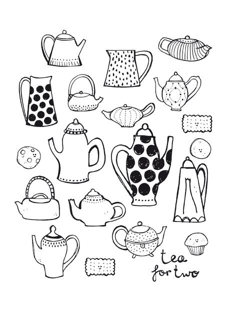 Tea pot illustration by Sjoesjoe