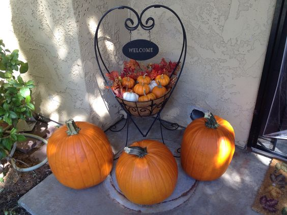Fall basket outside front door