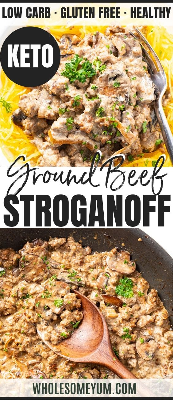 Low Carb Keto Ground Beef Stroganoff Recipe With Cream Cheese In 2020 Stroganoff Recipe Ground Beef Stroganoff Beef Stroganoff Recipe With Cream Cheese