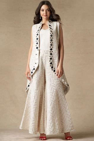 Buy Mirror Work Jacket By Twenty Nine At Aza Fashions In 2020 Kurti Designs Party Wear Sleeves Designs For Dresses Fashion