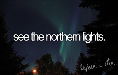 Bucket List: See the northern lights