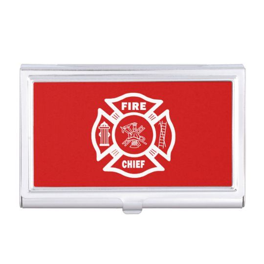 Fire Chief Case For Business Cards Zazzle Com Firefighter Emt Firefighter Firefighter Quotes