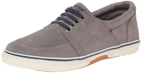 Sperry Top-Sider Voyager Sneaker (Little Kid/Big Kid), Grey/Navy, 13 M US Little Kid. Rich suede upper. Fixed laces and gore on medial side for easy on off.