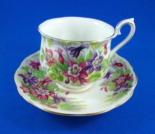 Royal Albert Columbine Tea Cup and Saucer Set